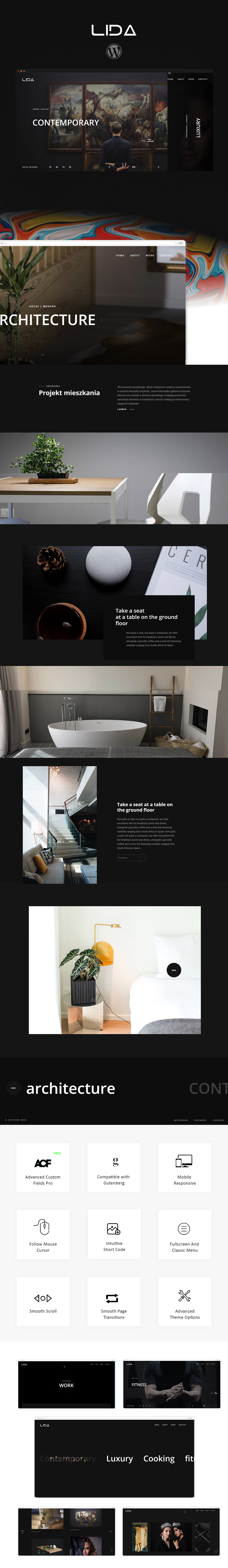 Lida - Ajax Portfolio WordPress Theme - 1