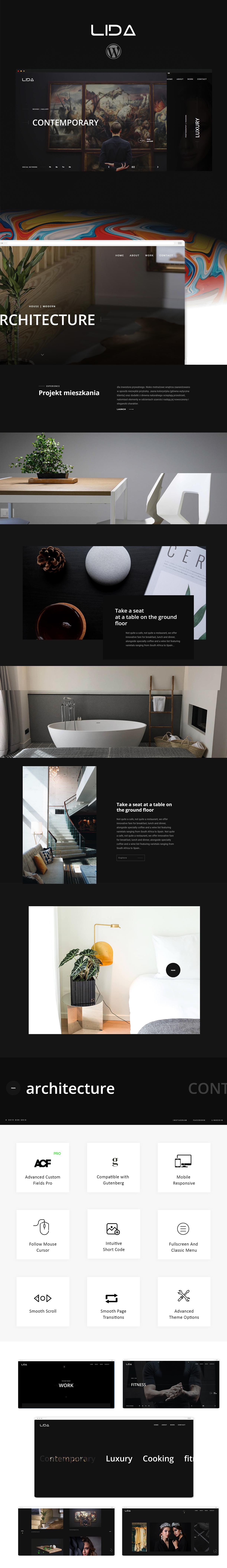 Lida - Ajax Portfolio WordPress Theme - 2